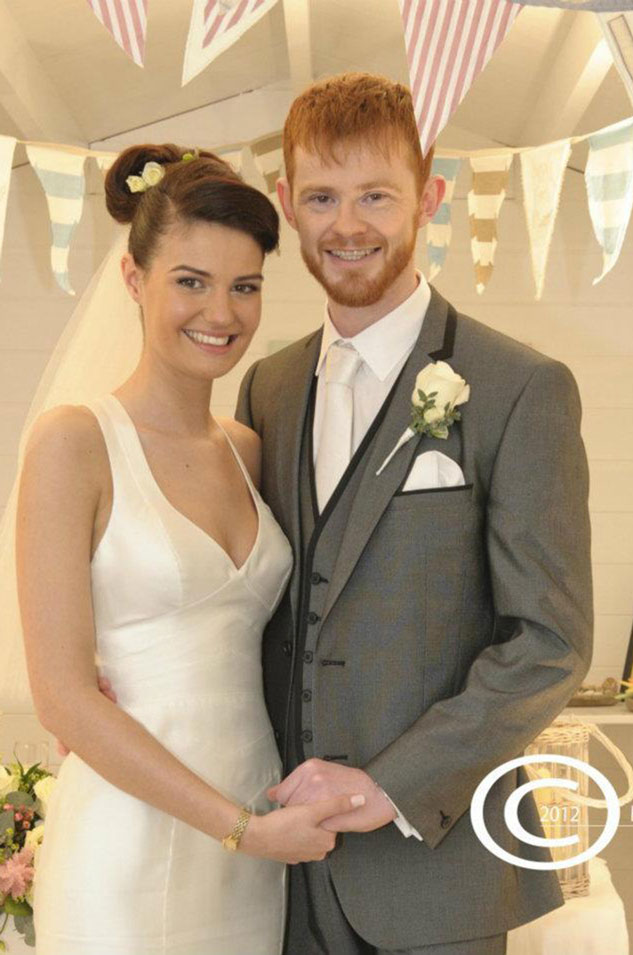 Kate & Frazer Seed, winners of an aptly-named 'Here Comes the Tide' wedding competition