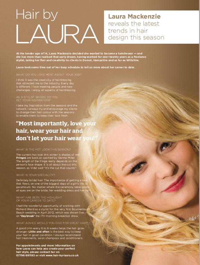 Laura Mackenzie with hairdresser to royalty & celebrities - Richard Ward